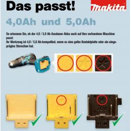 Makita 2 x 4Ah (BL1840) plus Ladegerät (DC18RC)