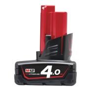 Milwaukee Ersatzakku Red Li-Ion M12 B4, 12V/4.0 Ah - 1 Stück