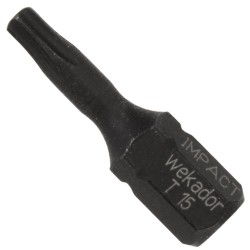 Wekador Torx® IMPACT Bit TX15 (25mm) - schlagfest - 5 Stück