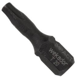Wekador Torx® IMPACT Bit TX20 (25mm) - schlagfest - 5 Stück