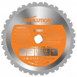 Evolution B185 TCT Multifunktions-Sägeblatt  185mm