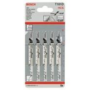 Bosch T 101 D HCS Stichsägeblätter 5 Stück (HCS) für Holz