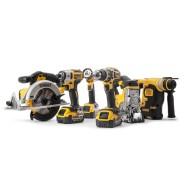Dewalt 6-teiliges 18V Li-Ion Akku-Set mit Bohrhammer SDS-Plus (3 x 4Ah Akku)
