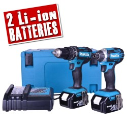 Makita 2-teiliges 18V Akku-Set (DHP482/DTD152)