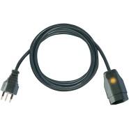 Brennenstuhl Qualitäts-Kunststoff-Verlängerungskabel mit Funktionsleuchte 10m schwarz H05VV-F 3G1,5 *CH* - 1160152015