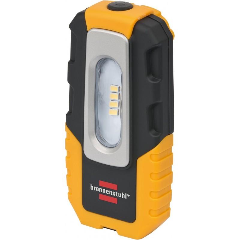 Brennenstuhl LED Taschenlampe mit Akku Farbe 8 SMD LEDs + 5 CREE LED Handleuchte Akku mit Schalter und Magnet zum flexiblen Einsatz schwarz