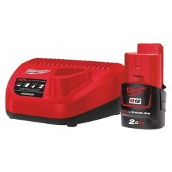 Milwaukee 12V Basis - Set mit 1 x 2Ah Akku (M12NRG-201)