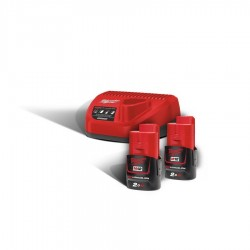 Milwaukee 12V Basis - Set mit 2 x 2Ah Akku (M12NRG-202)