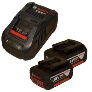 Bosch Basis-Set 2 x Akku GBA 18V/6,0 Ah + GAL1880 CV Ladegerät