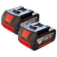 Bosch 18V, 4.0Ah Li-Ion Akkus - 2 Stück