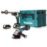 Makita 2-teiliges Akku-Set (DDF481ZJ / DGA513ZJ, 2 x 5Ah) - GRATIS DAZU: 25 x Bosch Trennscheibe f. Inox