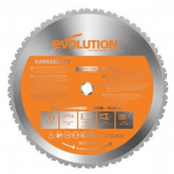 Evolution B355 Rage 2 TCT Multifunktions-Sägeblatt 355mm