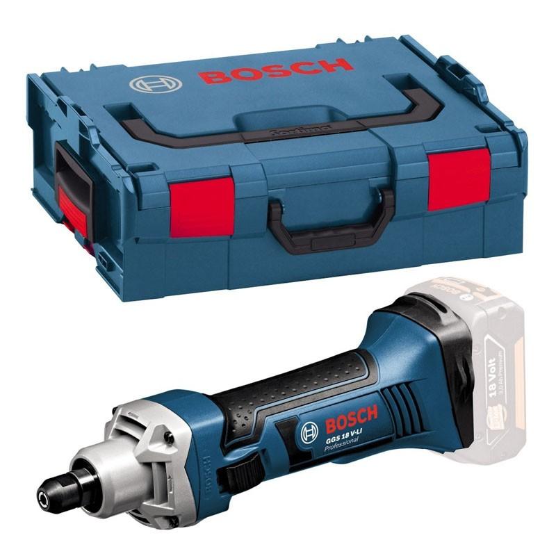GBA 2 Ah Akku Lader Bosch GGS 18 V-Li Professional Geradschleifer in L-Boxx