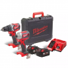 Milwaukee M18 CBLPP2A-402C M18-Maschinen-Set 2tlg. (2 x 4Ah) - 4933464536