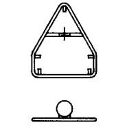 Steinemann Rohrrahmen m.zentr.Bandbride f.komb.Dreiecksignal 790102100
