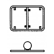 Steinemann Rohrrahmen m.zentr.Bandbride f.rechteckige Signale 790179100
