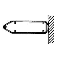Steinemann Rohrrahmen mit Wandplatte für Wegweiser 790197100