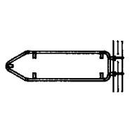 Steinemann Rohrrahmen mit seitl. Bandbride für Wegweiser 790204100