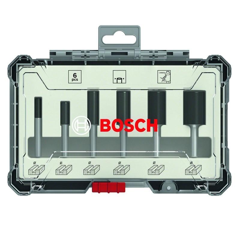 Bosch Fräser-Set-HM, 12-teilig, Durchmesser: 8 mm Schaft