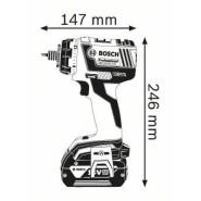 Bosch GSR 18V-60 FC2 Set (solo in L-BOXX, mit 4 Bohrfutter) - BO06019G7103