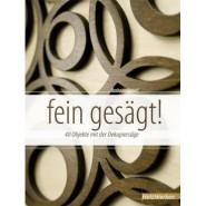 HEGNER Buch - fein gesägt!...