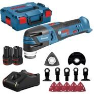 Bosch GOP 12V-28 Akku-Multi-Cutter (mit 12-teiligem Zubehörset, 2x3Ah Akkus und Ladegerät in L-BOXX) - 06018B5006
