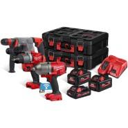 Milwaukee M18 FPP3Q2-533P Akku-Maschinen-Set 18V in Packout-Boxen - 4933478833