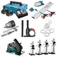 Zubehör für Elektrowerkzeuge von Bosch und Makita wie Akkus, Ladegeräte, Bohrersets, Bitsets etc.